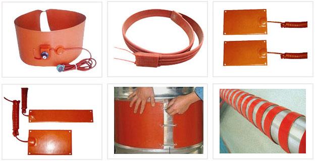 油桶加热器主要构成部分为硅橡胶电加热带,它有着较高的机械性和物理性能,加热均匀、功率稳定、耐老化、抗拉而且防水性能好,可用于潮湿、无爆炸性气体场所工业设备或实验室的管道、罐体和槽池的加热、伴热和保温。 硅橡胶带的加热装置主要是由硅橡胶布跟合金丝片构成,采用多根镍铬合金丝布线,有效避免了单根丝容易烧断的问题,采用合金蚀刻片能得到更均匀,更稳定的加热效果。由于加热带能有很好的柔软性,其热能稳定,正逐渐的被利用于化工,工业等行业范围里,得到越来越多的大众认可。  硅橡胶加热带的特点: 1、升温迅速,热转换率高;